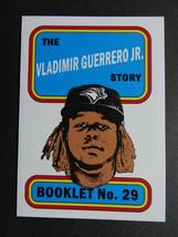 2019 Topps Heritage Vladimir Guerrero Jr. Blue Jays Story Booklet Baseba... - $59.99
