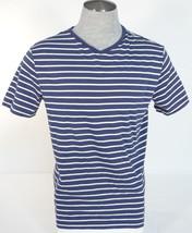 Men's Polo Ralph Lauren Short Sleeve T-Shirt Blue White Stripe Red Pony - $44.99