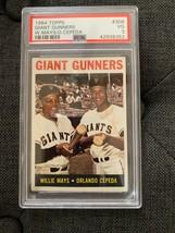 Willie Mays / Orlando Cepeda 1964 Topps Baseball Card #306 HOFer  PSA 3 - $73.50