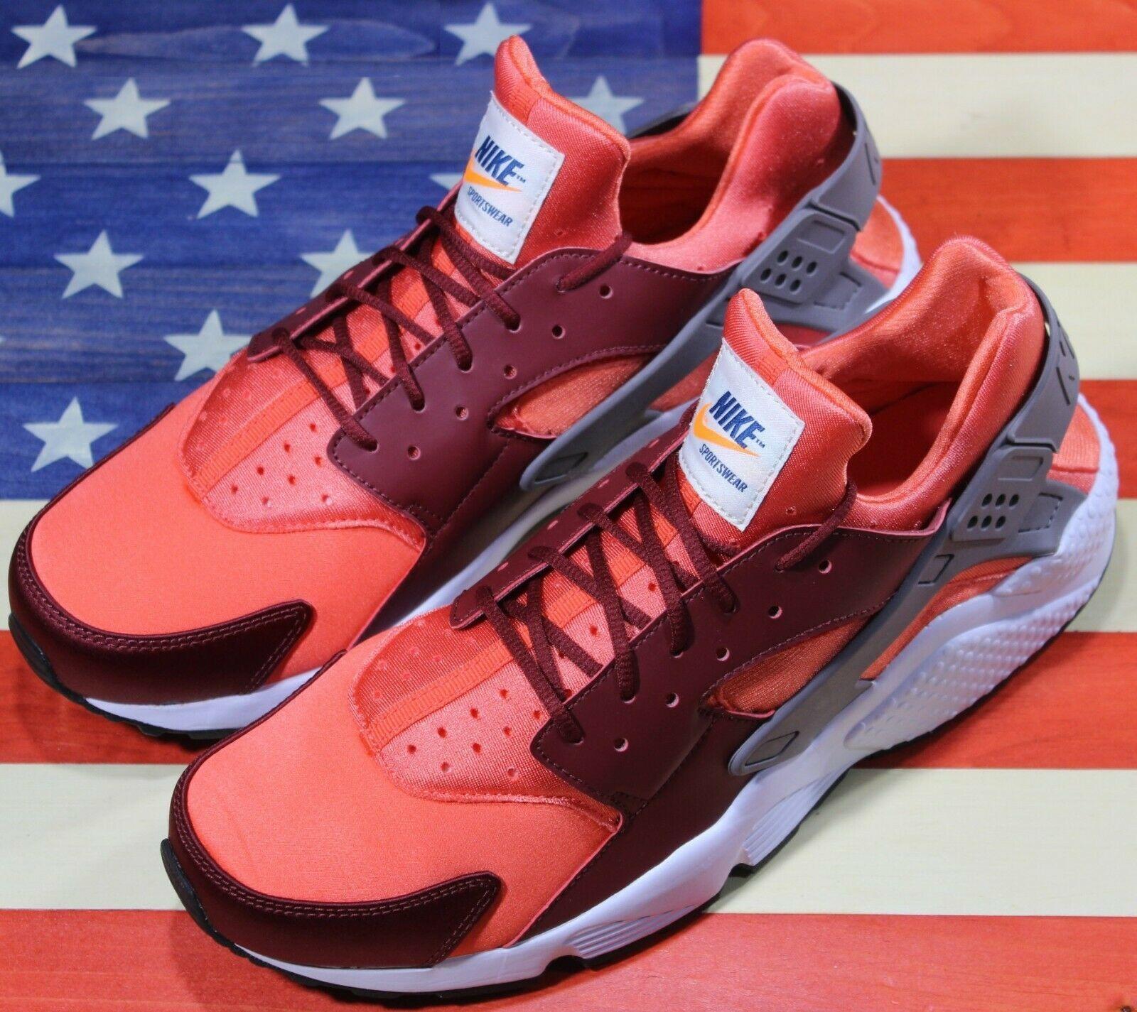 Nike Air Huarache Run Running Shoes Team Red Coral White [318429-054] Men's 11.5 image 9