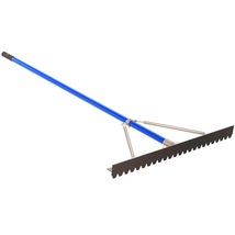 Asphalt Lute Rake 6 ft Aluminum Handle 36 inches Blunt Tooth Lawn Garden... - $73.51