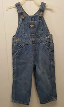 Oshkosh 18 Months Bib Overalls Vestbak Blue Jean Faded - $14.82