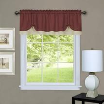 "Achim Home Furnishings, Marsala/Tan DRVL14MT12 Darcy Window Curtain Valance, 58"" - $32.03"