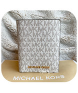 MICHAEL KORS JET SET TRAVEL PASSPORT CASE WALLET MK LOGO VANILLA - $49.38