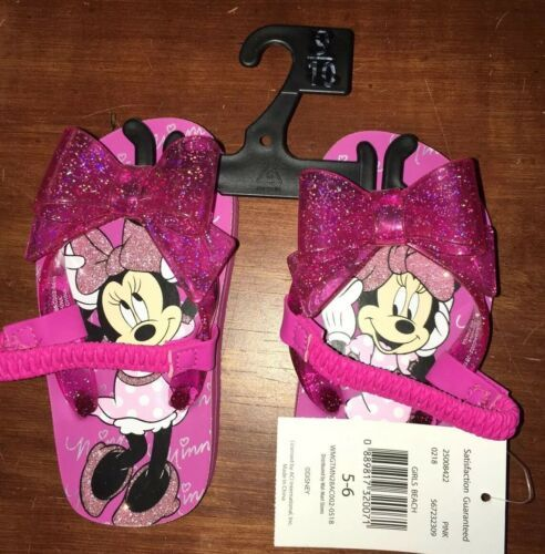 Disney Minnie Mouse Sandals Girls Size 5 6 NWT