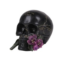Pacific Giftware Skull with Flower Resin Figurine Home Decor - $19.79