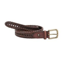 Tommy Hilfiger Men's Premium 32MM Braided Casual Belt Tan 11Tl04X007 image 2