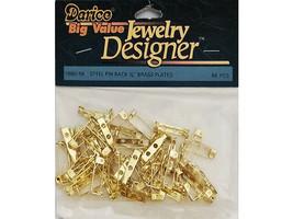 "Darice Jewelry Designer Big Value 3/4"" Steel Pin Back #1880-56"