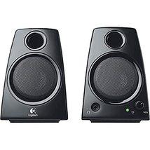 Logitech 980000417 Z130 Compact 2.0 Stereo Speakers, 3.5mm Jack, Black - $16.40