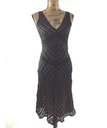 Alexia Admor Dress Small Sexy Black Lace Nude Beige Lined Fit Flare Stre... - $0.99