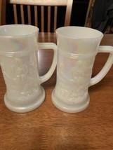 Federal Carnival Glass Tavern Pattern/ Set Of 2 - $15.00