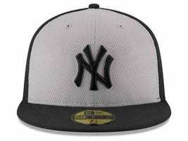 New York Yankees New Era Diamond Era 59FIFTY Fitted Hat Grey/Navy New With Tags - £25.68 GBP