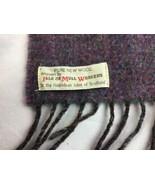 "Pure New Wool Scarf Isle Of Mull Weavers Scotland Red Blue Purple 54"" X 12"" - $18.69"