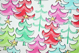 COTTON FABRIC - A STAR ATOP COLORFUL TREES FROM MICHAEL MILLER - $7.91