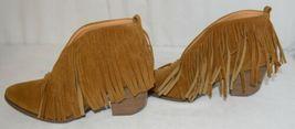 Beast Fashion Carrie 01 Camel Fringe Slip On Shoes Size Ten image 5