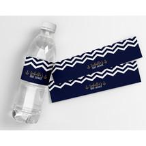 Zigzag It's a Boy Personalized Waterproof Party Water Bottle Labels - $21.78