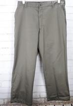 Nike Golf Stretch Flat Front Dress Pants Men's Size 34x30 M Gray/Green Cotton - $58.41