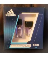 Adidas Moves for Him Eau de Toilette Spray  2 Piece Gift Set NEW FREE SHIPPING!! - $22.49