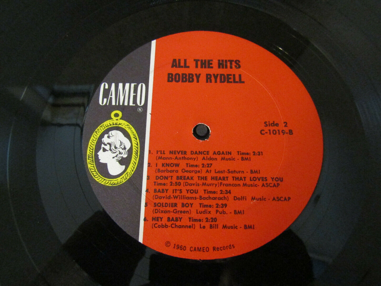 Bobby Rydell All The Hits Cameo C1019 Mono Vinyl Record LP Album image 6
