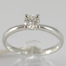 White Gold Ring 750 18K, Solitaire, Shank Rounded, Diamond Carat 0.32 image 1