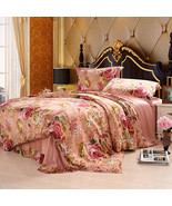Riho 4-Piece Custom-made 100% Mulberry Silk 19MM Floral Bedding Sets(Eli... - $469.99+