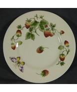 "Coalport Strawberry Salad Plate 8 1/8"" (Smooth) Bone China England Butterflies - $14.95"