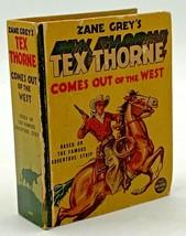 Tex Thorne The Big Little Book Whitman 1440 Vintage Original Zane Grey 2... - $18.95