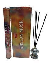 Hem African Musk Incense Sticks Natural Fragrance Hand Rolled Indian Aga... - $13.99