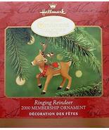 Hallmark 2000 Ringing Reindeer Membership Keepsake Christmas Ornament - $7.92