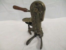 Rogar Estate Antique Brass Table Top Wine Bottle Opener with Wood Handle... - $79.19
