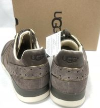 Ugg Australia Deaven Mouse Gold Suede Lace Up Shoes Tennis Sneakers 1019655 image 6
