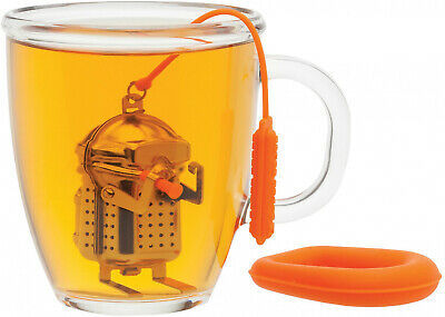 Scuba Diver Tea Infuser With Raft Drip Tray image 2