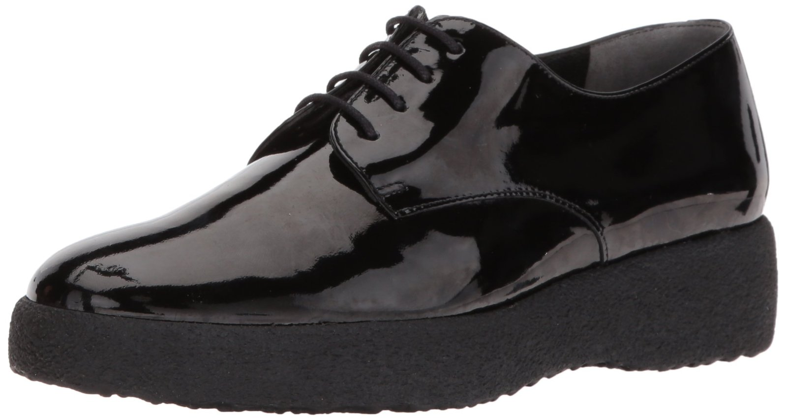 Robert Clergerie Women's Feydol Oxford, Black Patent, 37.5 EU/7 B US