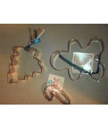 Set of 3 NEW Wilton Copper Cookie Cutters Gingerbread Man Tree Candy Cane - $27.83
