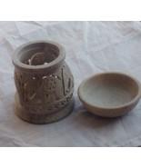 Aroma oil diffuser burner elephant hand carved home decor Soapstone marb... - $18.81