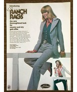 1977 Lasso Western Wear San Antonio Ad Ranch Rags for Country & City Gal... - $10.89