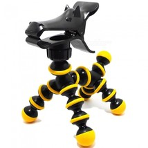 Creative Pony Style Adjustable Mobile Phone Holder - Yellow + Black - $13.26