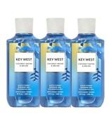 3 Bottles Bath & Body Works Key West Coconut Water & Melon Shower Gel Wa... - $37.99