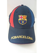 FCB Barcelona One Sz Blue Red Gold Lettering Baseball Cap Hook and Loop ... - $14.89