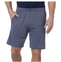 NEW Reebok Men's Speedwick Active Athletic Shorts Gray/Navy Size Medium