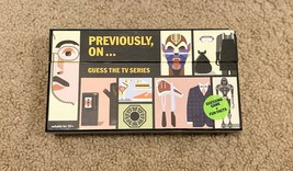 Previously, On... Guess the TV Series - Card Game, NEW - $6.74