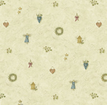 Mazy Blue Hearts Dolls Toss Wallpaper Sidewall Chesapeake BBC21711 - $47.51