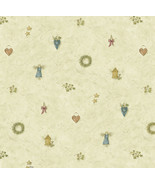 Mazy Blue Hearts Dolls Toss Wallpaper Sidewall Chesapeake BBC21711 - $47.51