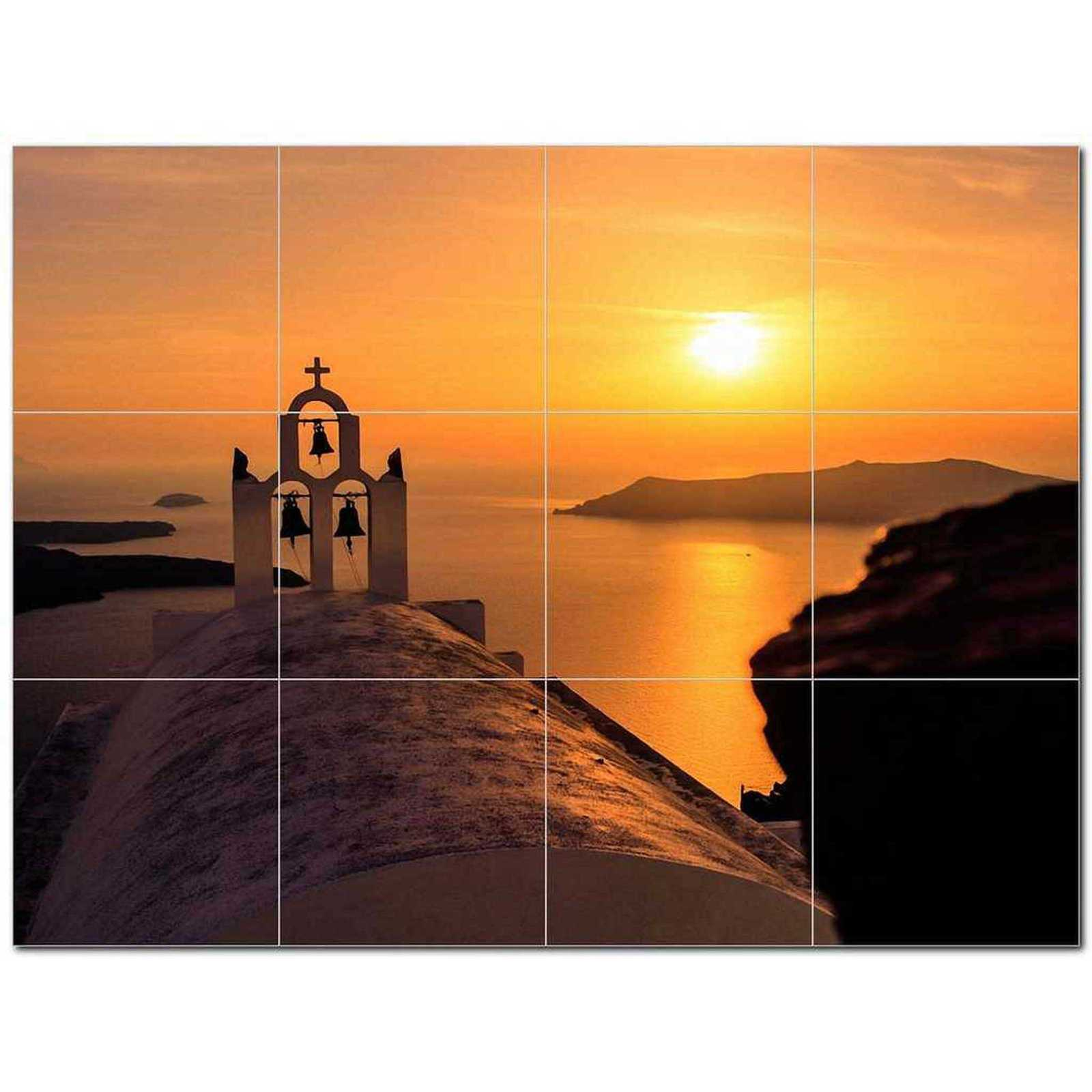 Primary image for Sunset Photo Ceramic Tile Mural Kitchen Backsplash Bathroom Shower BAZ405892