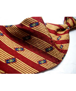 NAUTICA  Red Exec STRIPES & GEO   Mens 100 SILK Necktie  s 8-727 fr - $15.99
