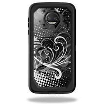 Skin Compatible With Box Defender Motorola Moto Z2 Force - Black Flourish   Prot - $12.99