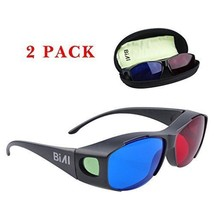 BIAL Red-Blue 3D Glasses with Case Glassese Cloth 2 Pack Cyan Anaglyph S... - €16,46 EUR