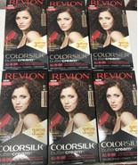 6 Revlon 50/41N Medium Natural Brown Vivid Hair Color Colorsilk Buttercream - $59.99