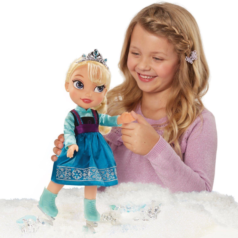 Image 3 of Ice Skating Princess Elsa Frozen Toddler Doll Disney, 3+ Years
