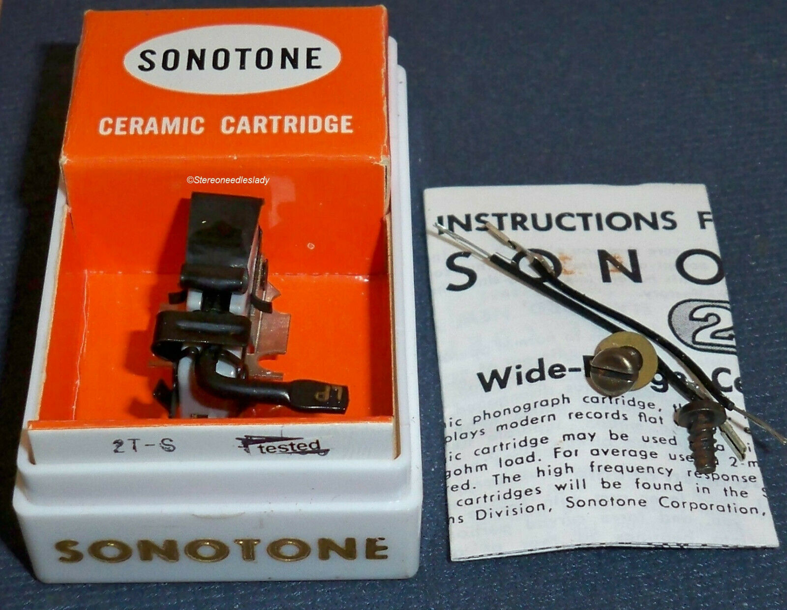 SONOTONE 2T-S CARTRIDGE NEEDLE for Electro-Voice EV 38 38D Astatic 751